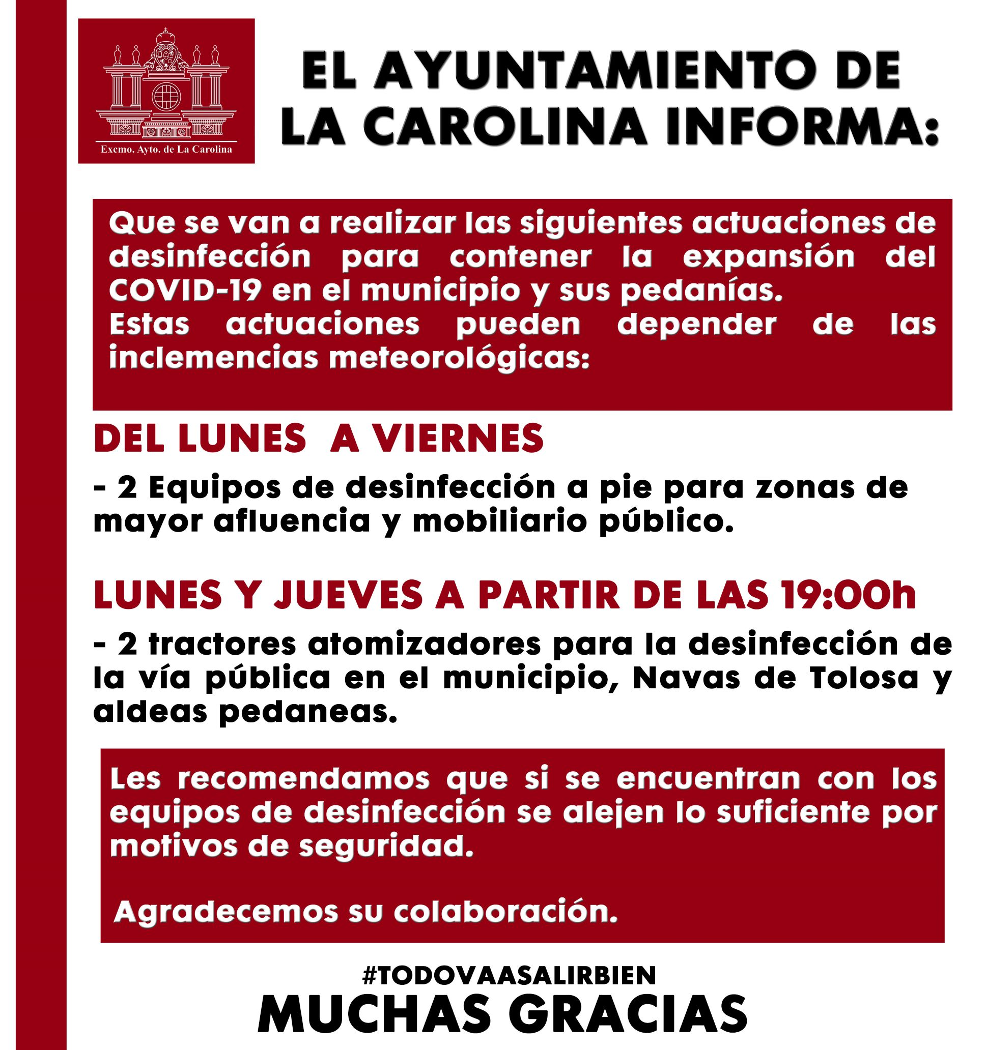 CARTEL DESINFECCION