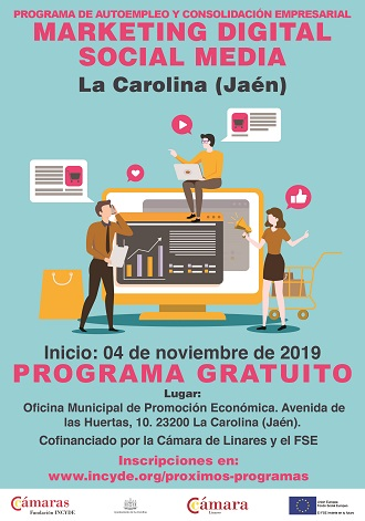 cartel curso marketing digital la web